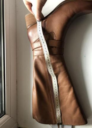 Сапоги из натуральной кожи бренд на каблучке с широким голенищем hot price 🔥🔥🔥7 фото