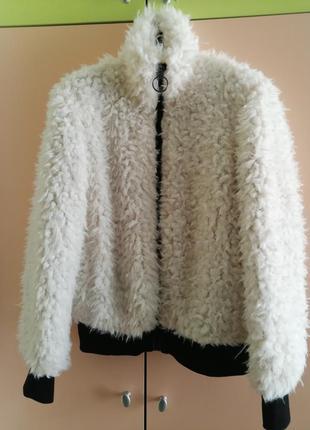 Куртка шубка тедди искусственный мех jennyfer франция