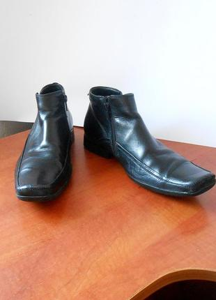 Кожаные демисезонные мужские ботинки front, р.40 код n4004
