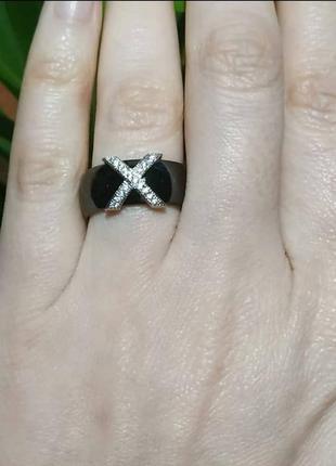 Керамическое кольцо колечко керамика черное