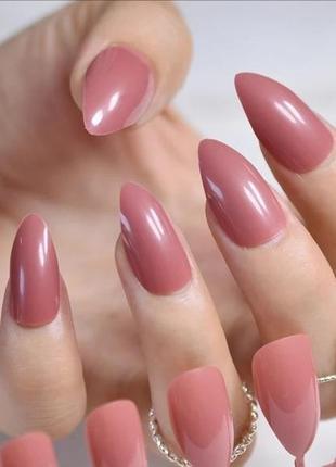 Комплект накладных ногтей 24 шт красивого пыльно-розового цвета