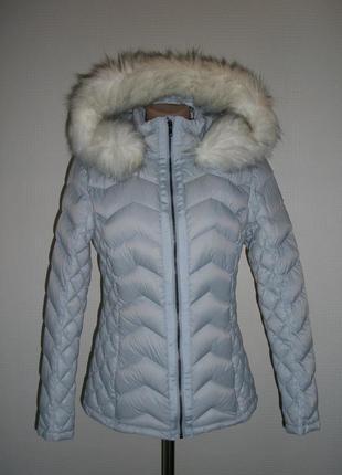 Пуховик куртка tu, франция, 90% натуральный  пух 10% перо, размер xs,s,m