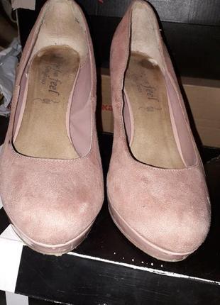 Туфли пудрового цвета 39-40р