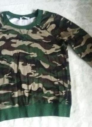 Свитер свитшот милитари хаки камуфляж