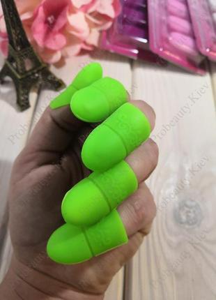 Колпачки зажимы силиконовые для снятия гель лака с ногтей probeauty