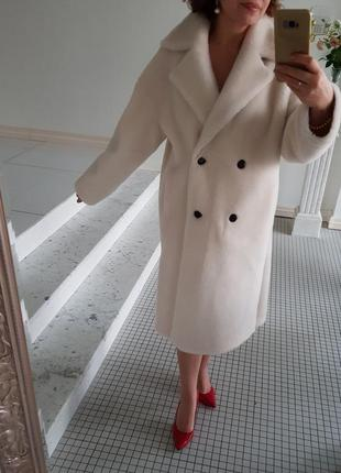 Оверсайз шуба меховое пальто натуральная овчина шерсть 100%
