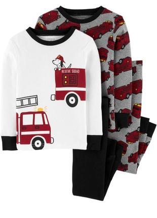 Набор пижам для мальчика рр.98-116 машинки carter's (картерс)