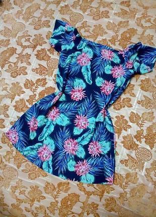 Нарядное красивое шифоновое платье george, сост. отличное, не ношено. размер 12/40. сток!