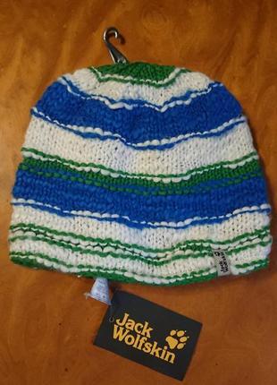 Брендова фірмова шапка jack wolfskin, оригінал, нова з бірками, шерсть.