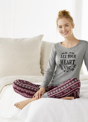 Стильная пижама, штаны джоггеры l 44-46 esmara, германия