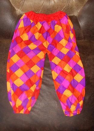 Штаники для маскарадного костюма клоуна, арлекина