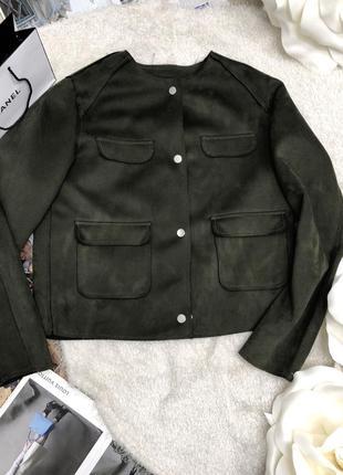 Бомбер/куртка эко-замш