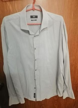 Hugo boss рубашка серая