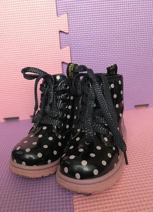 Лаковые ботинки демисезонные на девочку сказка
