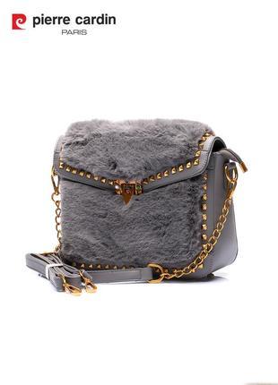 Женская сумка из плюша pierre cardin