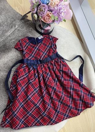 Платье в клеточку на рост 122