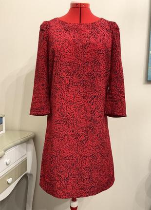 Красное яркое платье-туника от mango