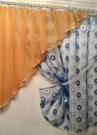 Тюль на кухню в детскую штора занавеска