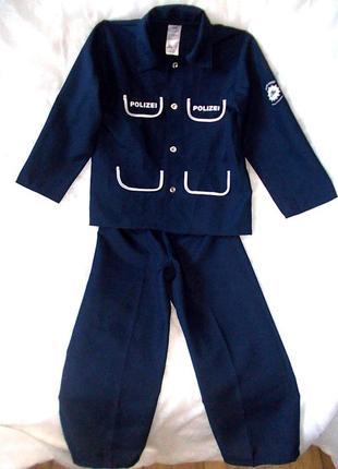 Маскарадный костюм для полицейского ростом 128 см