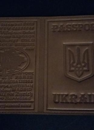 Обложка на паспорт натуральная кожа корчневая