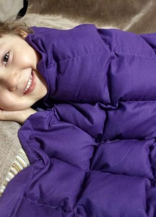 Детское утяжеленное одеяло с наполнителем из гречневой шелухи (лузги). размер 110 х 140 см