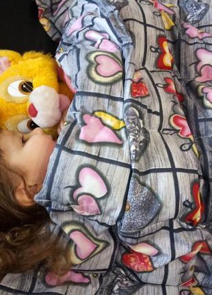 Детское сенсорное одеяло с гречневой шелухой (лузгой). размер 110 х 140 см