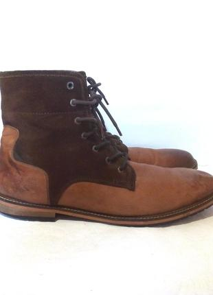 Кожаные зимние мужские ботинки от бренда paolo vandini, р.45 код n4504