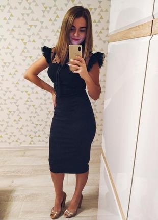 Вечернее платье футляр черное м