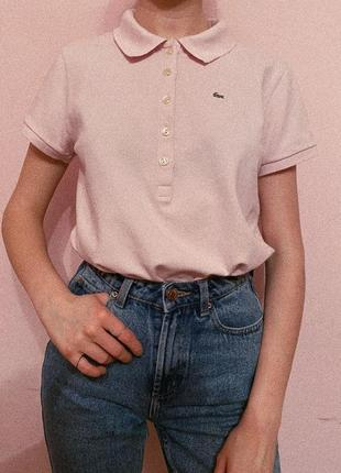 Рожеве поло lacoste