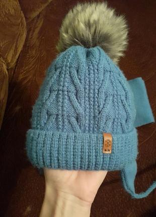 Зимовий комплект шапка+шарф