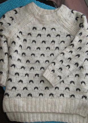 Тёплый свитер в составе шерсть альпаки
