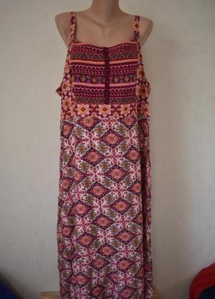 Натуральное платье с принтом большого размера tu
