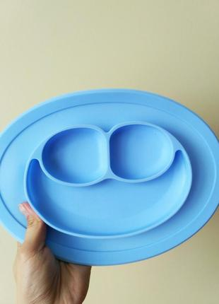 Тарілка коврик силіконова на присосці тарілочка тарелка дитяча детская