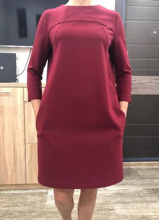 Бордовое платье cardo