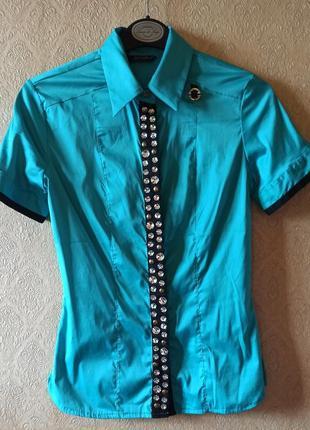 Шикарная блуза рубашка dishe с камнями, турция