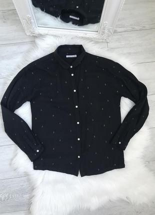 Рубашка. черная рубашка вискоза. классическая рубашка