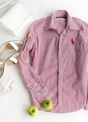 Классическая рубашка в полоску от ralph lauren sport оригинал