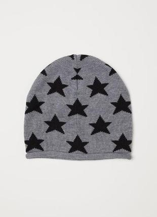 Вязаная шапка h&m в звезды 1,5-4 года
