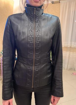 Шкіряна куртка-піджак