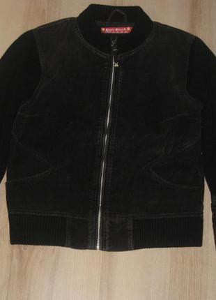 Вельветовая куртка с вязаными рукавами