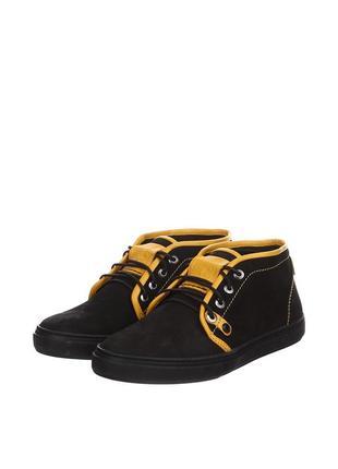 Ботинки kersi кожа нубук черный р 39-42