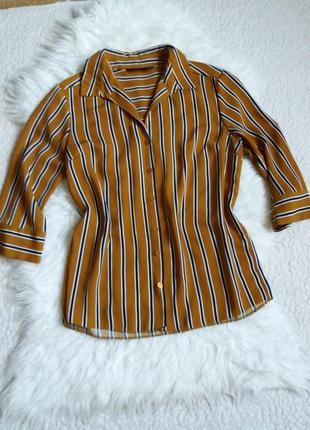 Рубашка-блуза в полоску f&f