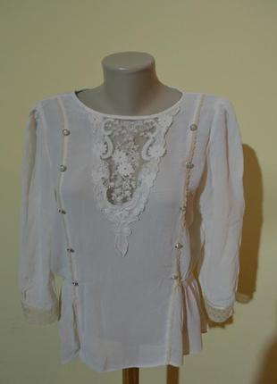 Шикарная нарядная шифоновая кружевная блузочка