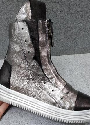 Кожаные демисезонные ботинки aquamarine