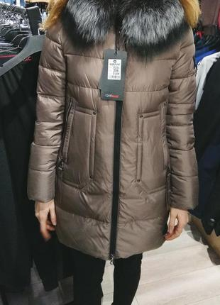 Теплая зимняя куртка с натуральным мехом qarlevar