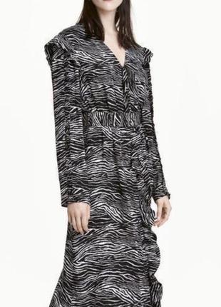 Платье миди фирмы h&m, 100 % вискоза