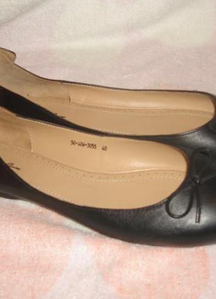 Кожаные мягкие балетки corsocomo на узкую ногу 40 размер, 25.8см по стельке.