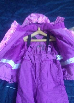 Супер классный лыжный костюм для девочки 5-6 лет