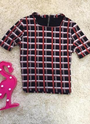 3d блуза футболка клетка блузка клеточка кофта river island