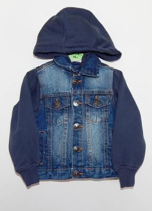 Куртка джинсовая с трикотажем lupilu